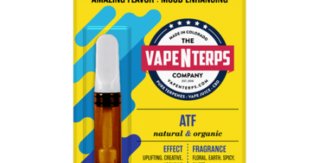 ATF 500mg CBD Vape Cart 1ml packaging