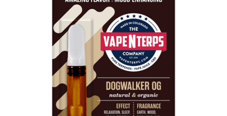 Dogwalker OG 500mg CBD Vape Cart 1ml packaging