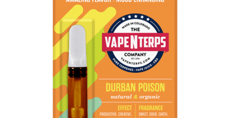 Durban Poison 500mg CBD Vape Cart 1ml packaging