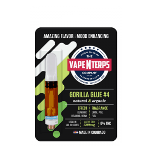 Gorilla Glue #4 500mg CBD Cart 1ml packaging