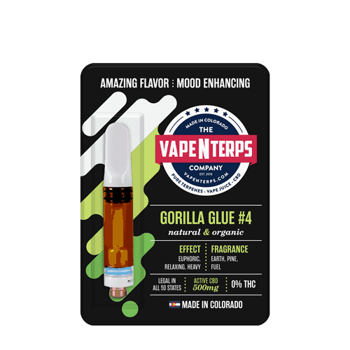 Gorilla Glue #4 500mg CBD Vape Cart 1ml packaging