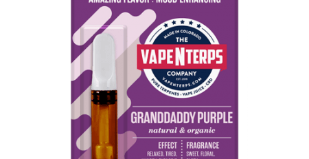 Granddaddy Purple 500mg CBD Vape Cart 1ml packaging